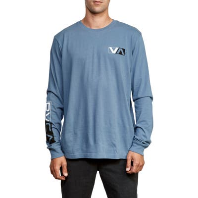 Rvca Lateral Long Sleeve T-Shirt, Blue