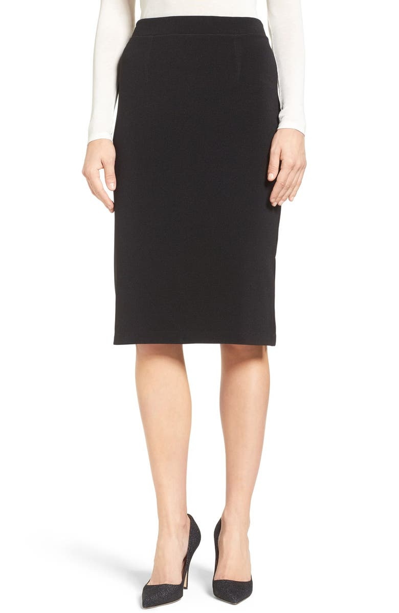 HALOGEN<SUP>®</SUP> Side Slit Pencil Skirt, Main, color, 001