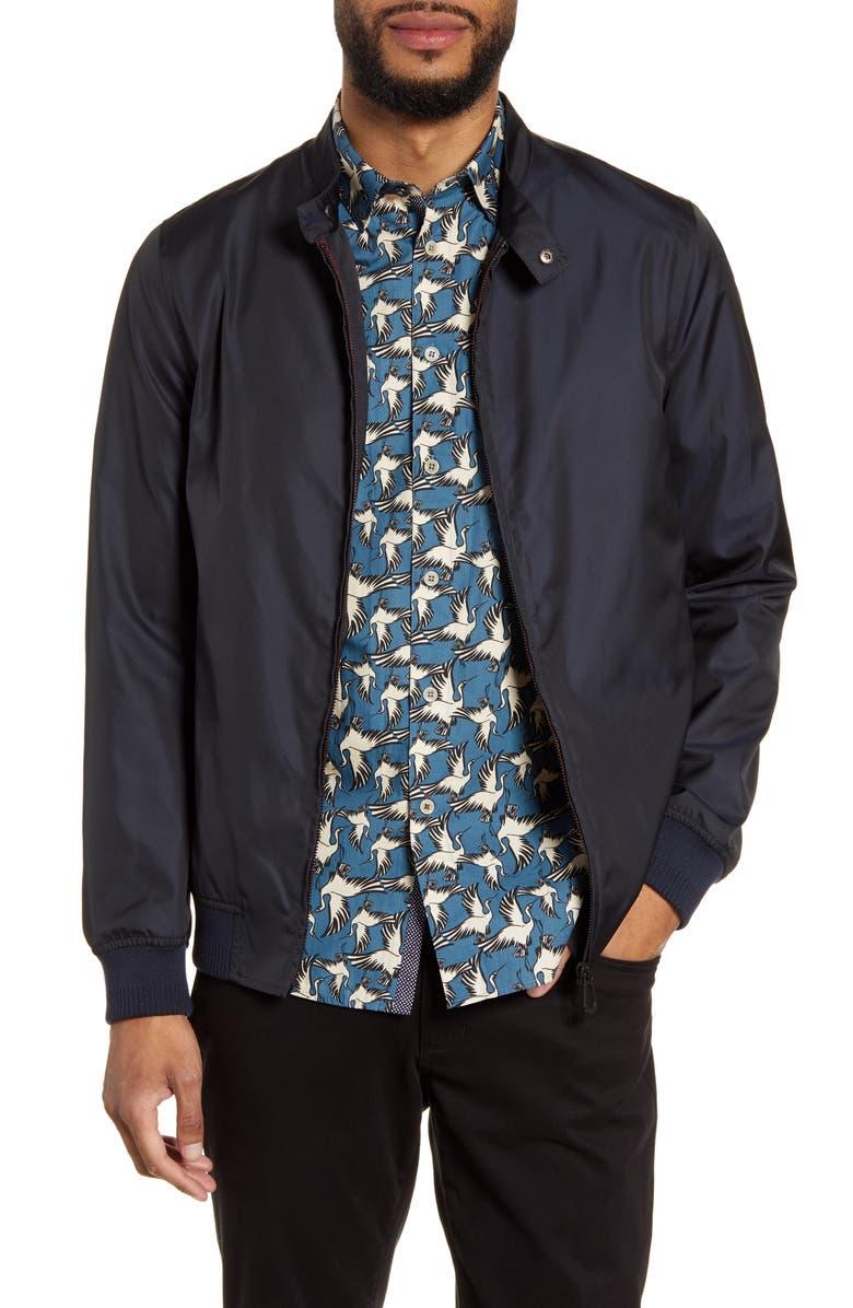 TED BAKER LONDON Horwood Bomber Jacket, Main, color, NAVY