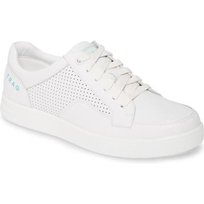 Alegria Baseq Traq(TM) Low Top Sneaker,6.5- White