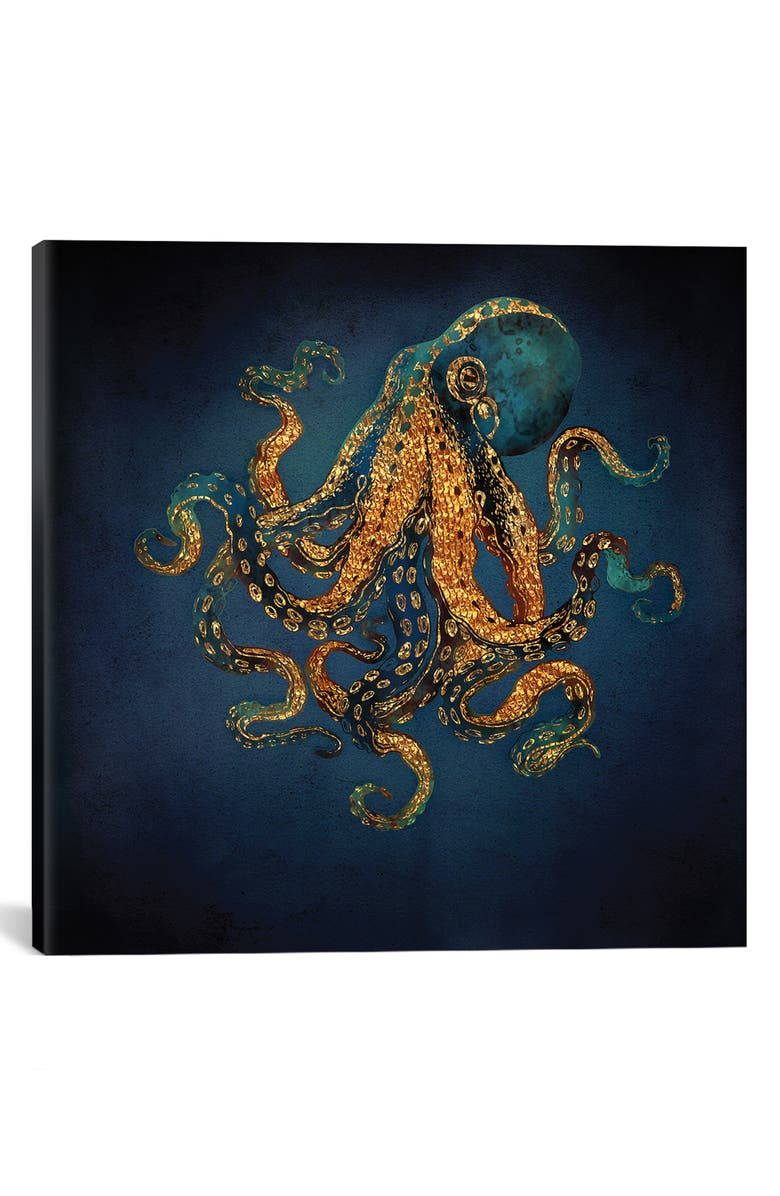ICANVAS Underwater Dream IV by SpaceFrog Designs Giclée Print Canvas Art, Main, color, BLUE