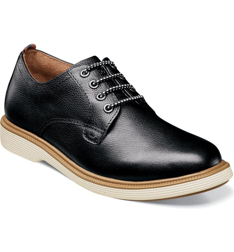 FLORSHEIM Supacush Plain Toe Derby, Main, color, BLACK