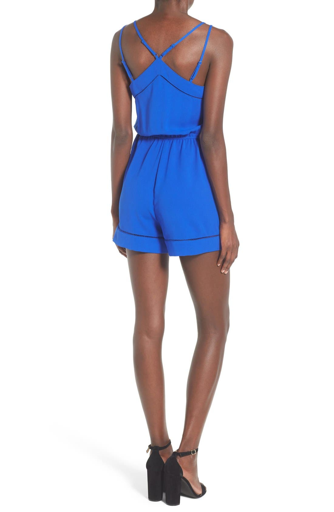 ,                             Strappy Woven Romper,                             Alternate thumbnail 2, color,                             405