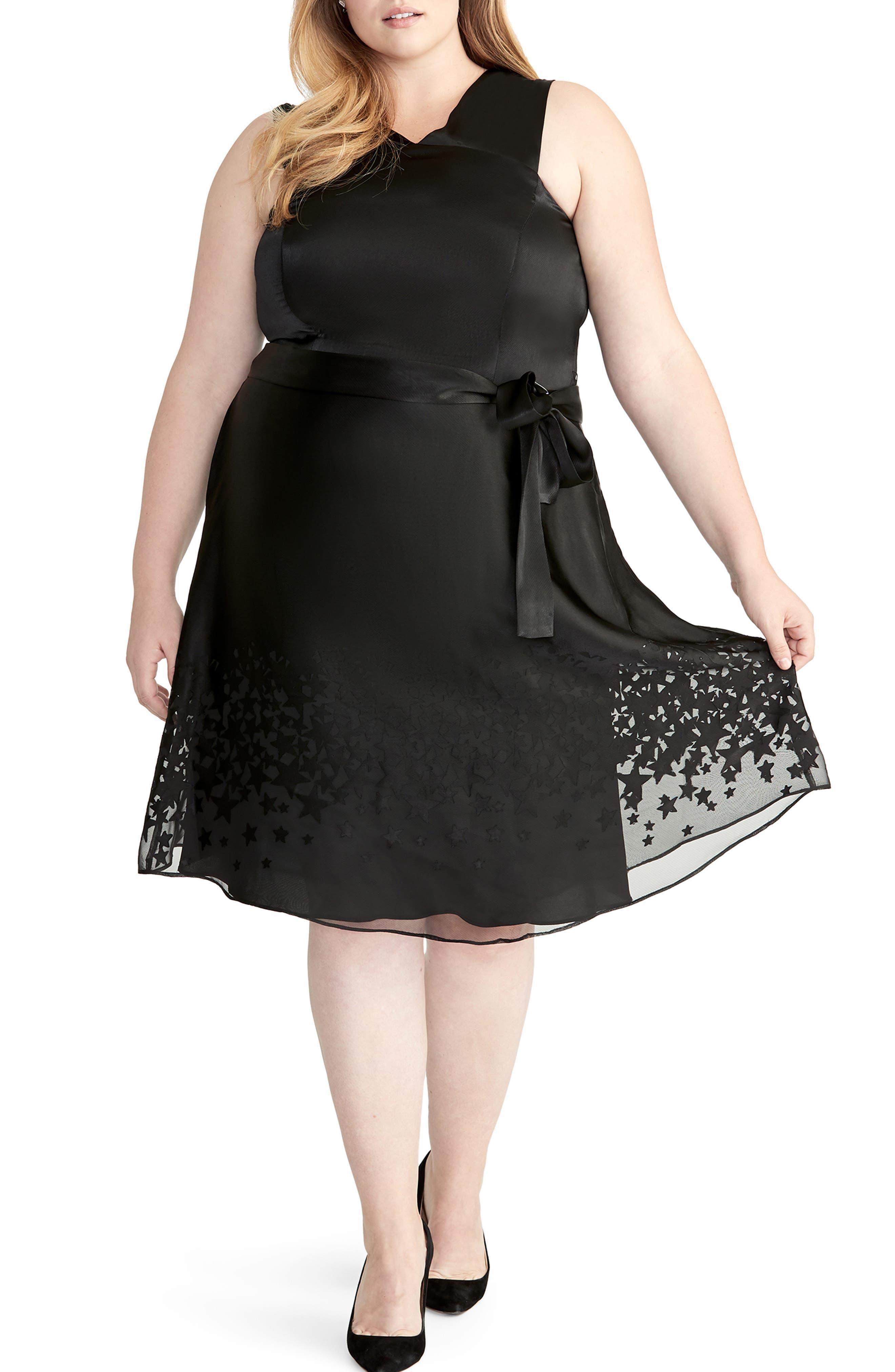 Plus Size Rachel Rachel Roy Ophelia Print Dress, Black