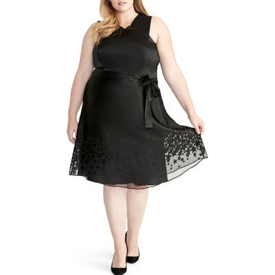 Plus Size Rachel Rachel Roy Ophelia Print Dress, Black