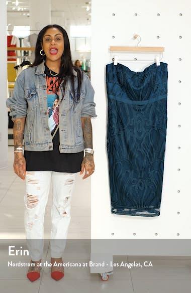 Antonia Strapless Sheath Dress, sales video thumbnail