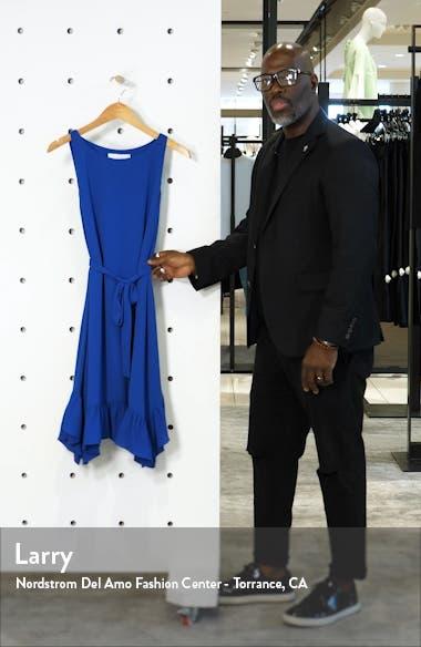 Tie Waist Crepe Dress, sales video thumbnail