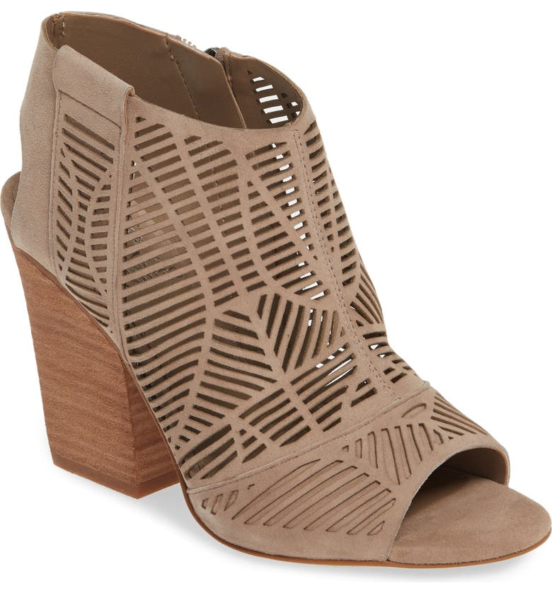 VINCE CAMUTO Kimora Cutout Shield Sandal, Main, color, WILD MUSHROOM SUEDE