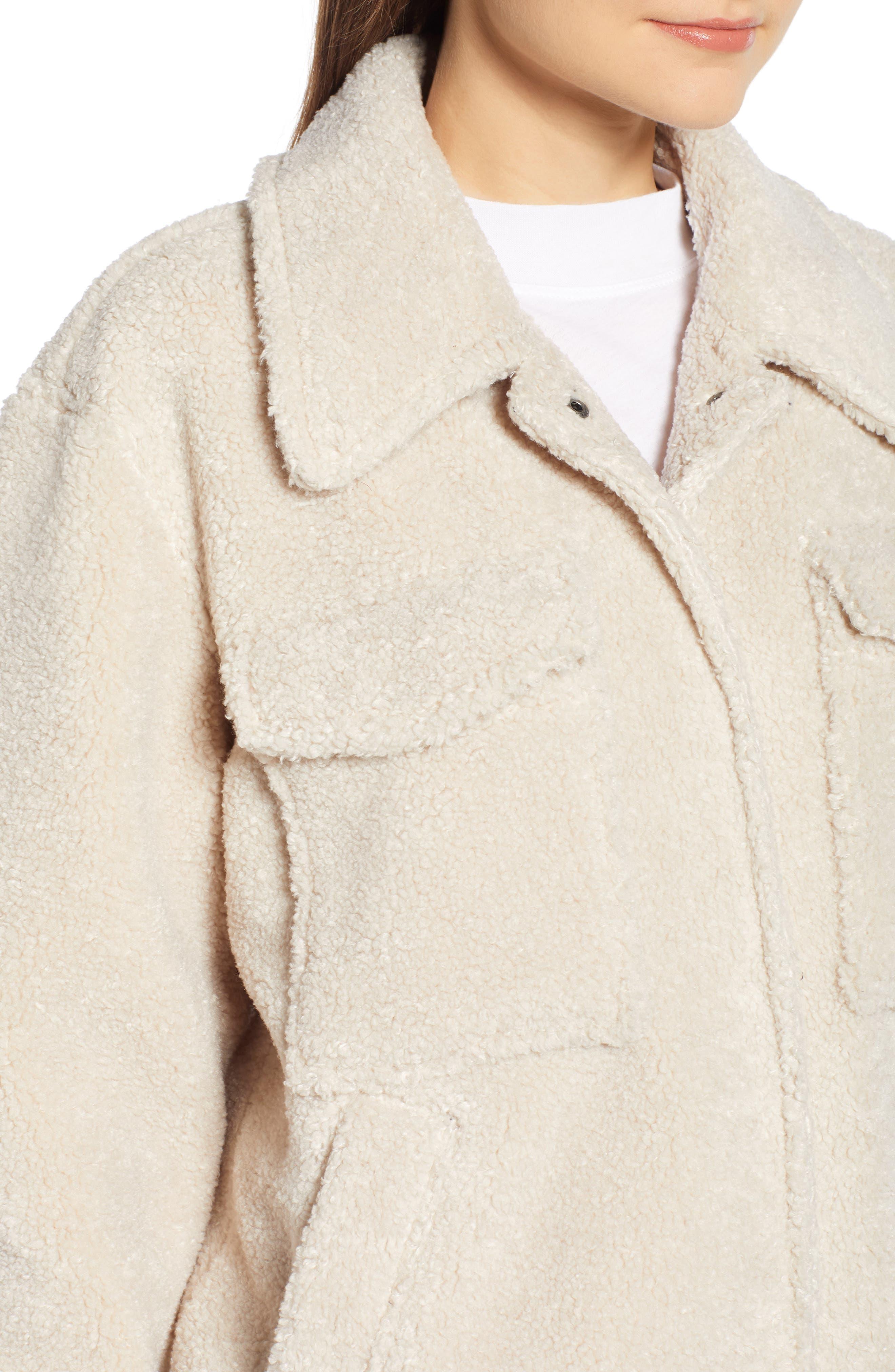 ,                             Faux Shearling Jacket,                             Alternate thumbnail 5, color,                             900