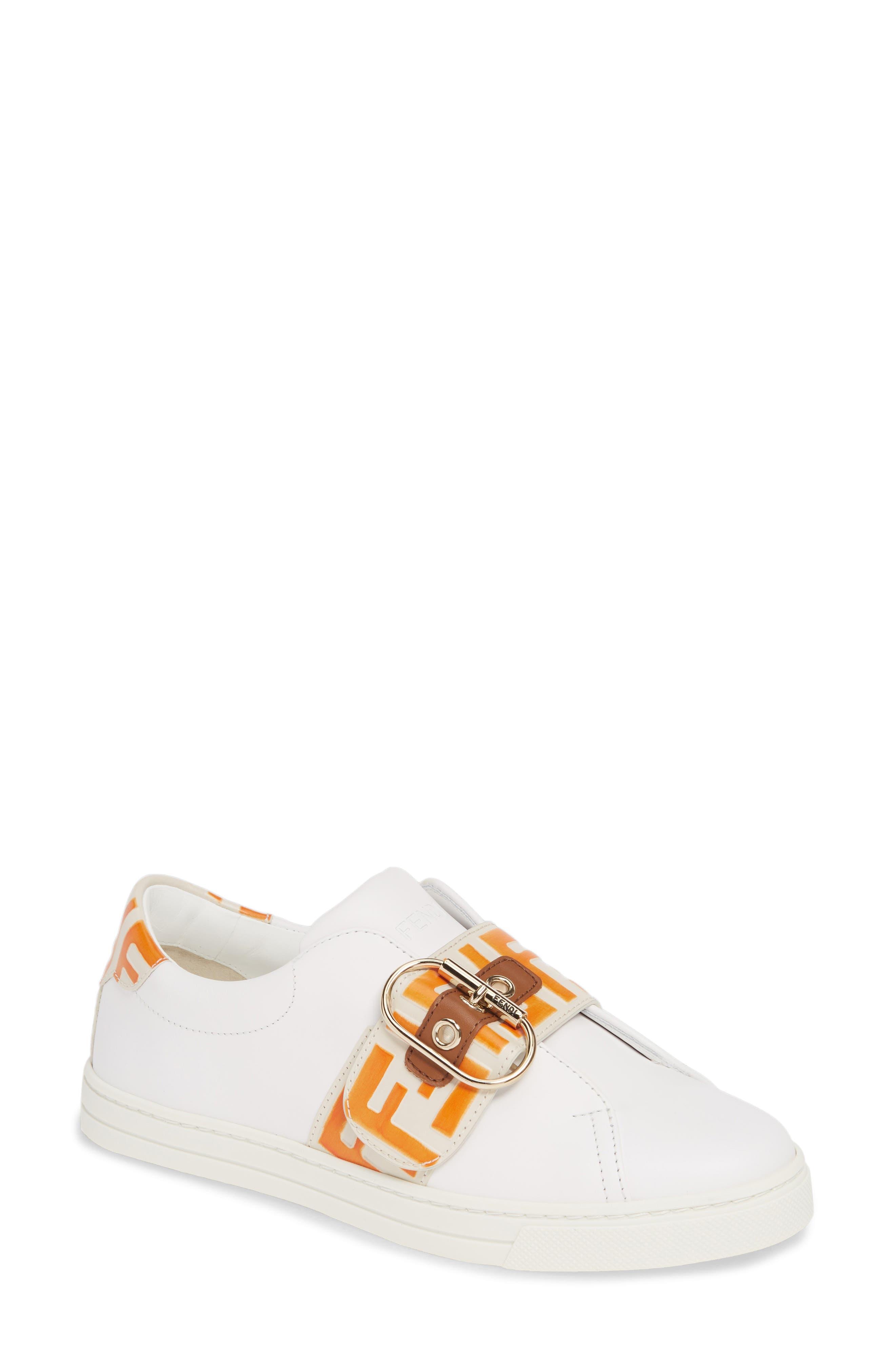 Fendi Pearland Logo Slip-On Sneaker - White