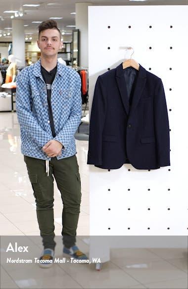 Herringbone Slim Fit Wool Blend Blazer, sales video thumbnail