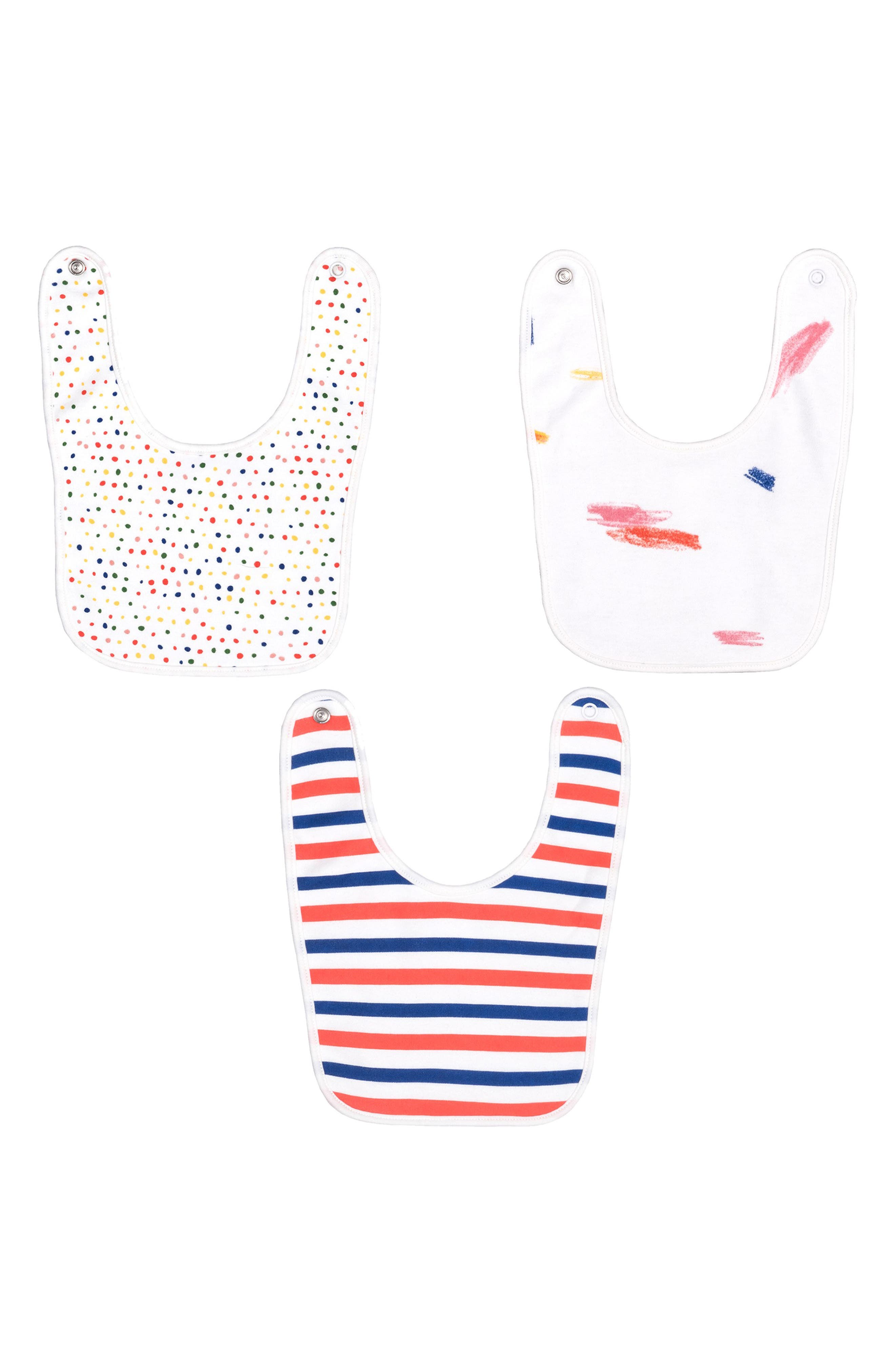 Infant Maisonette Doodle Collection 3Pack Bibs Size One Size  White