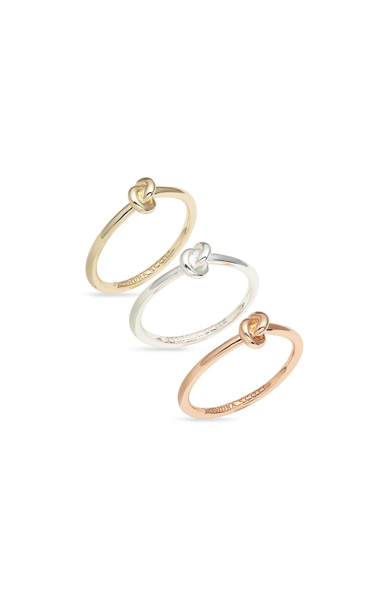 KENDRA SCOTT Presleigh Set of 3 Rings, Main, color, MIXED METAL