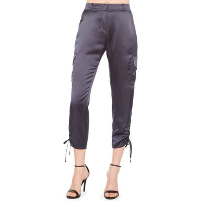 Parker Emerson Ruched Crop Cargo Pants, Blue