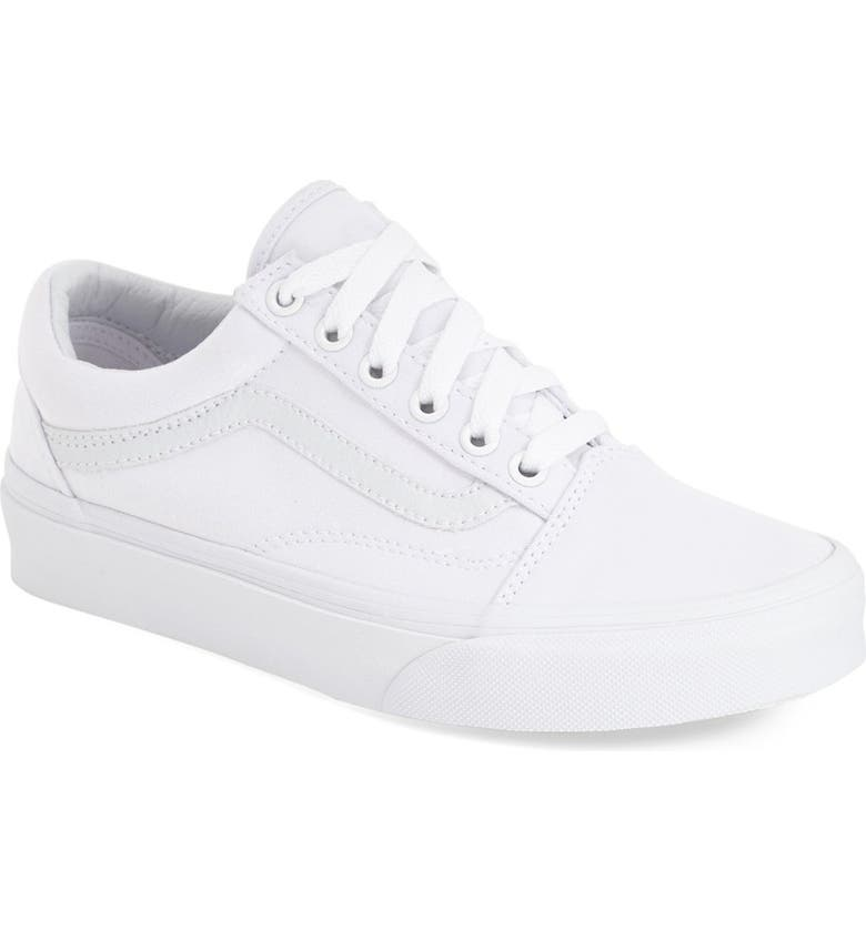 VANS Old Skool Sneaker, Main, color, TRUE WHITE CANVAS