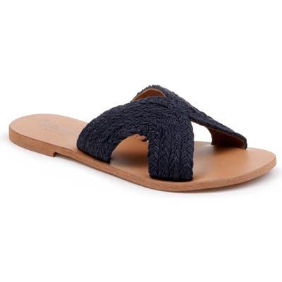 Splendid Sydney Woven Slide Sandal, Blue