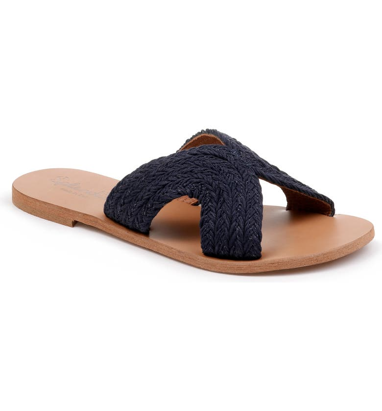 SPLENDID Sydney Woven Slide Sandal, Main, color, NAVY FABRIC