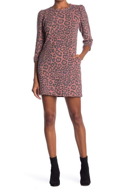 Image of Velvet Torch Knit Leopard Print Mini Dress