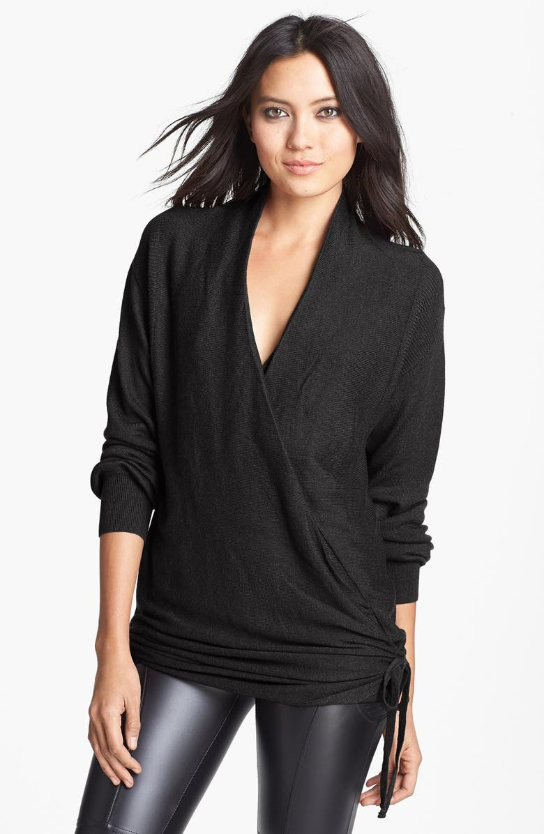 LEITH Side Tie Wrap Sweater, Main, color, 001