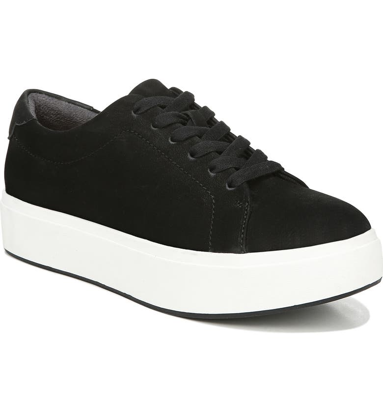 DR. SCHOLL'S Abbot Luxe Platform Sneaker, Main, color, BLACK SUEDE