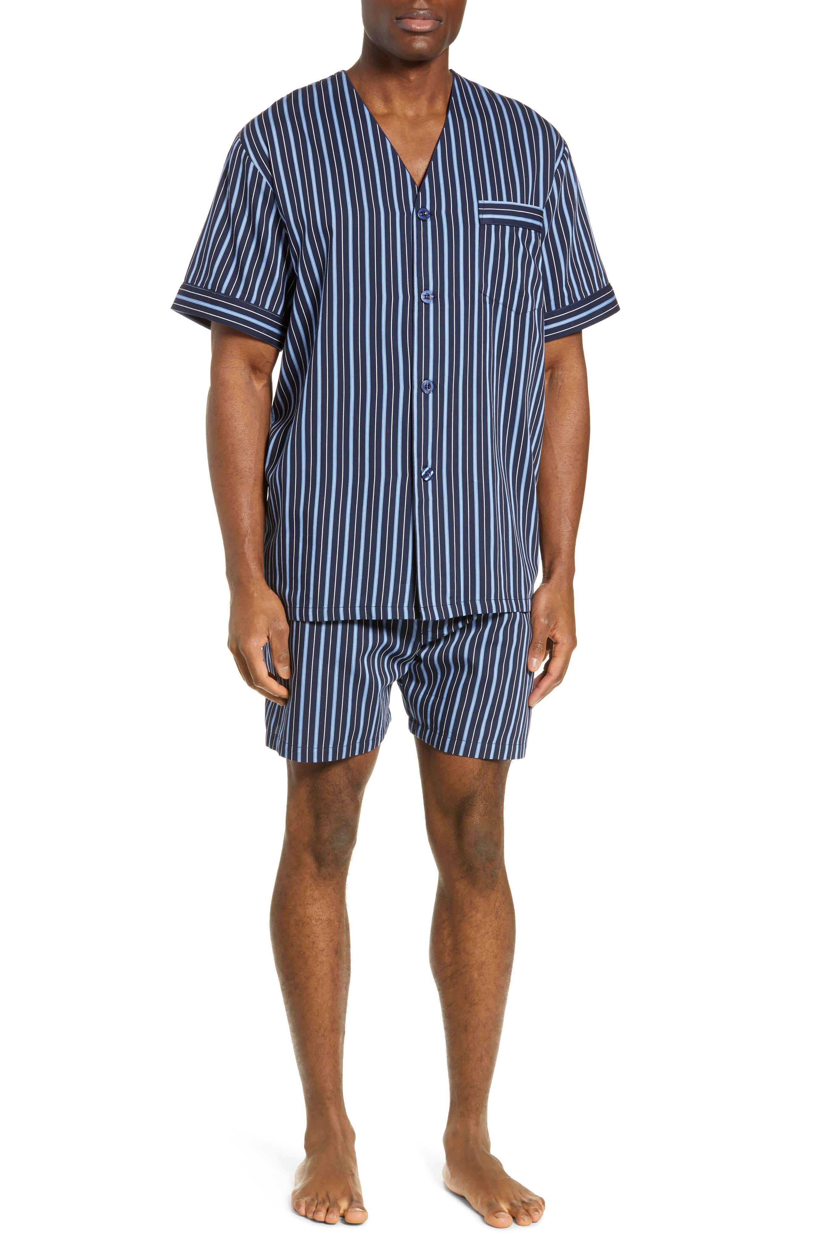 Fresca Shorty Pajamas, Main, color, NAVY