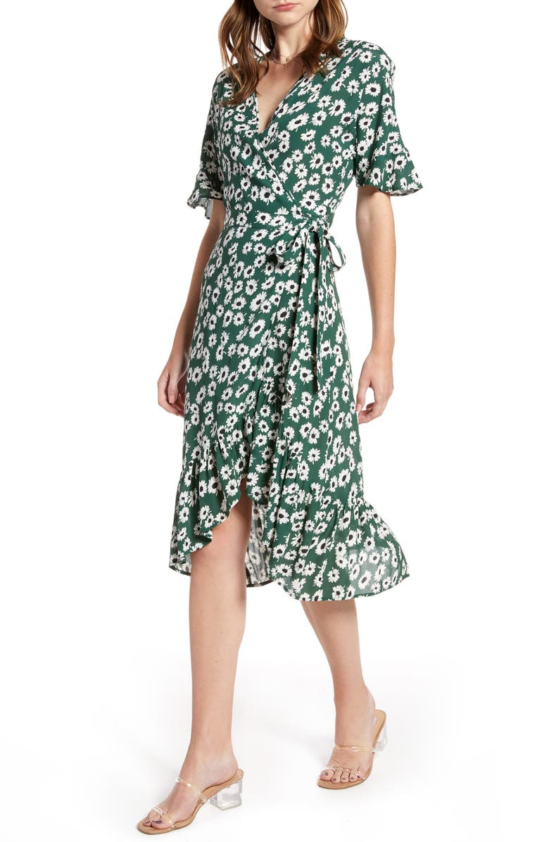 Rails Florence Daisy Print Wrap Dress
