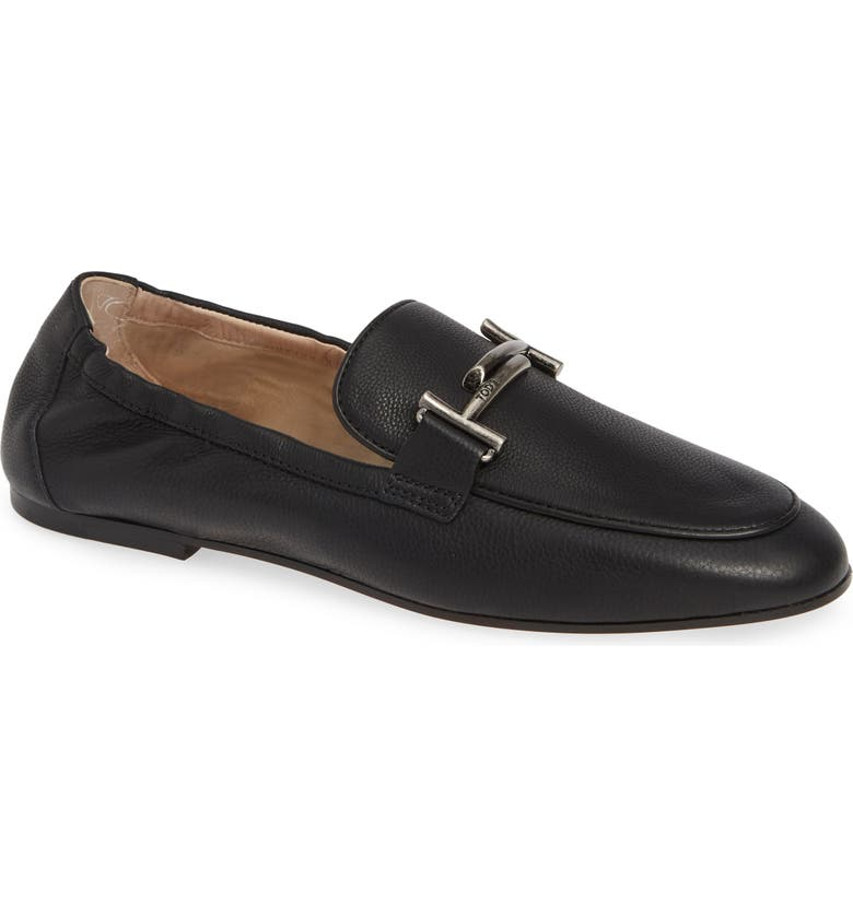 TOD'S Double T Loafer, Main, color, 001