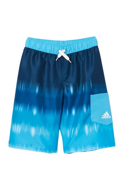Image of ADIDAS SWIMWEAR Blended Stripe Volley Shorts