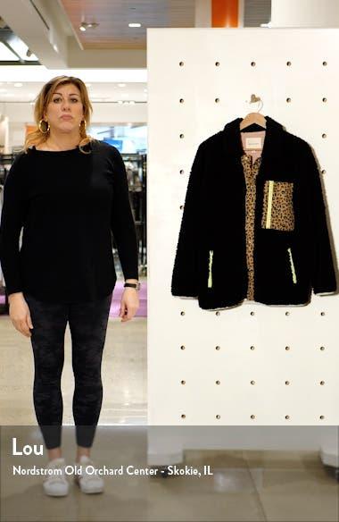 Leopard Trim Fleece Jacket, sales video thumbnail