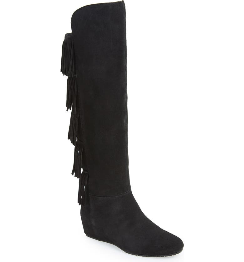 ISOLÁ Isolà 'Tavora' Fringe Tall Boot, Main, color, 001
