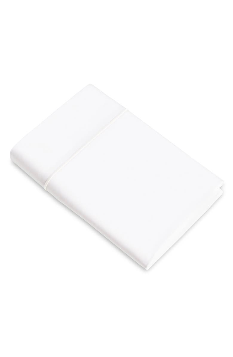 SIGNORIA FIRENZE Luce 600 Thread Count Flat Sheet, Main, color, WHITE/WHITE
