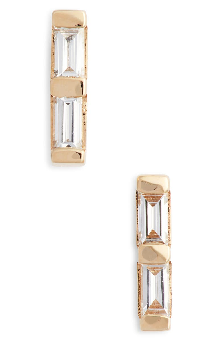 DANA REBECCA DESIGNS Sadie Diamond Stud Earrings, Main, color, YELLOW GOLD