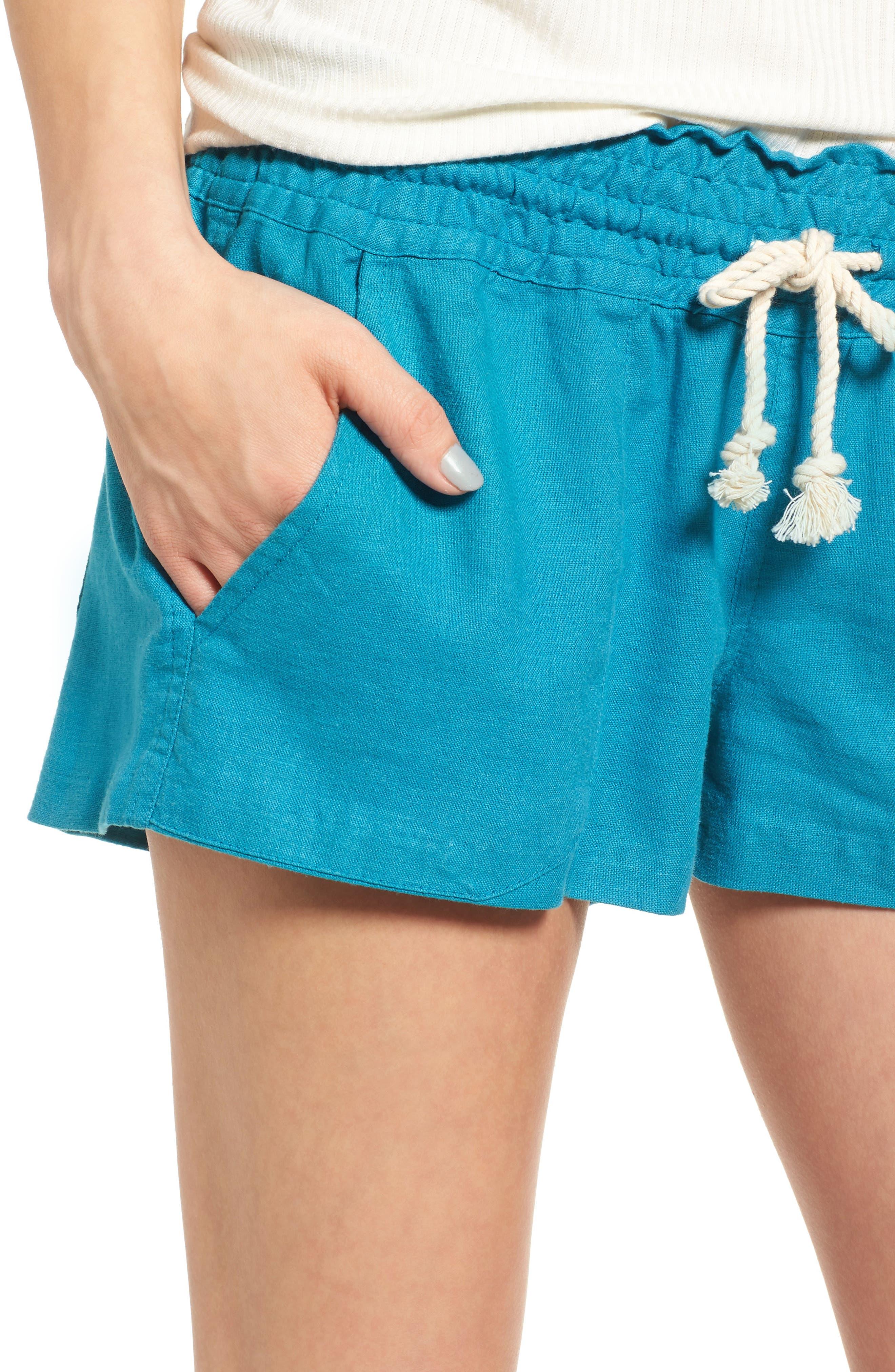 ,                             'Oceanside' Linen Blend Shorts,                             Alternate thumbnail 34, color,                             421