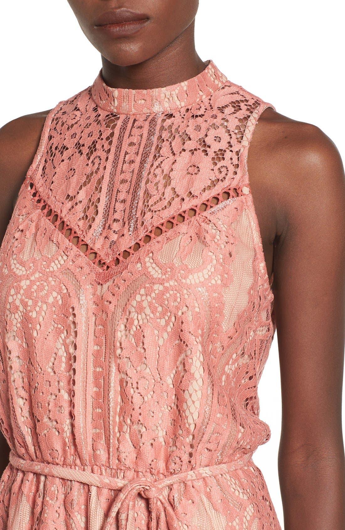 ,                             'Portrait' Lace Midi Dress,                             Alternate thumbnail 9, color,                             840