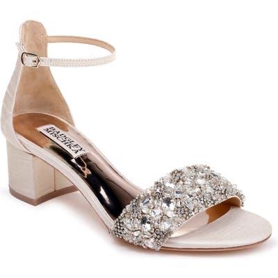 Badgley Mischka Liz Ankle Strap Sandal- Ivory