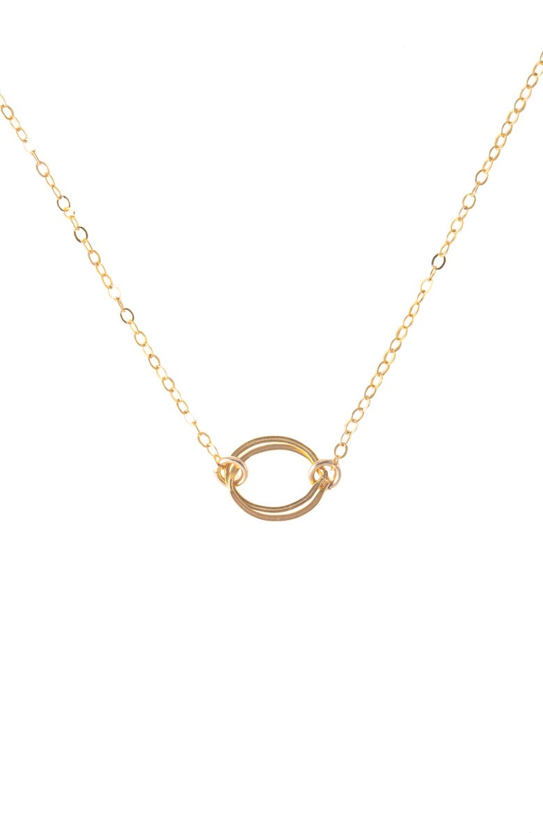 TERESSA LANE JEWELRY Interlocking Pendant Necklace, Main, color, GOLD