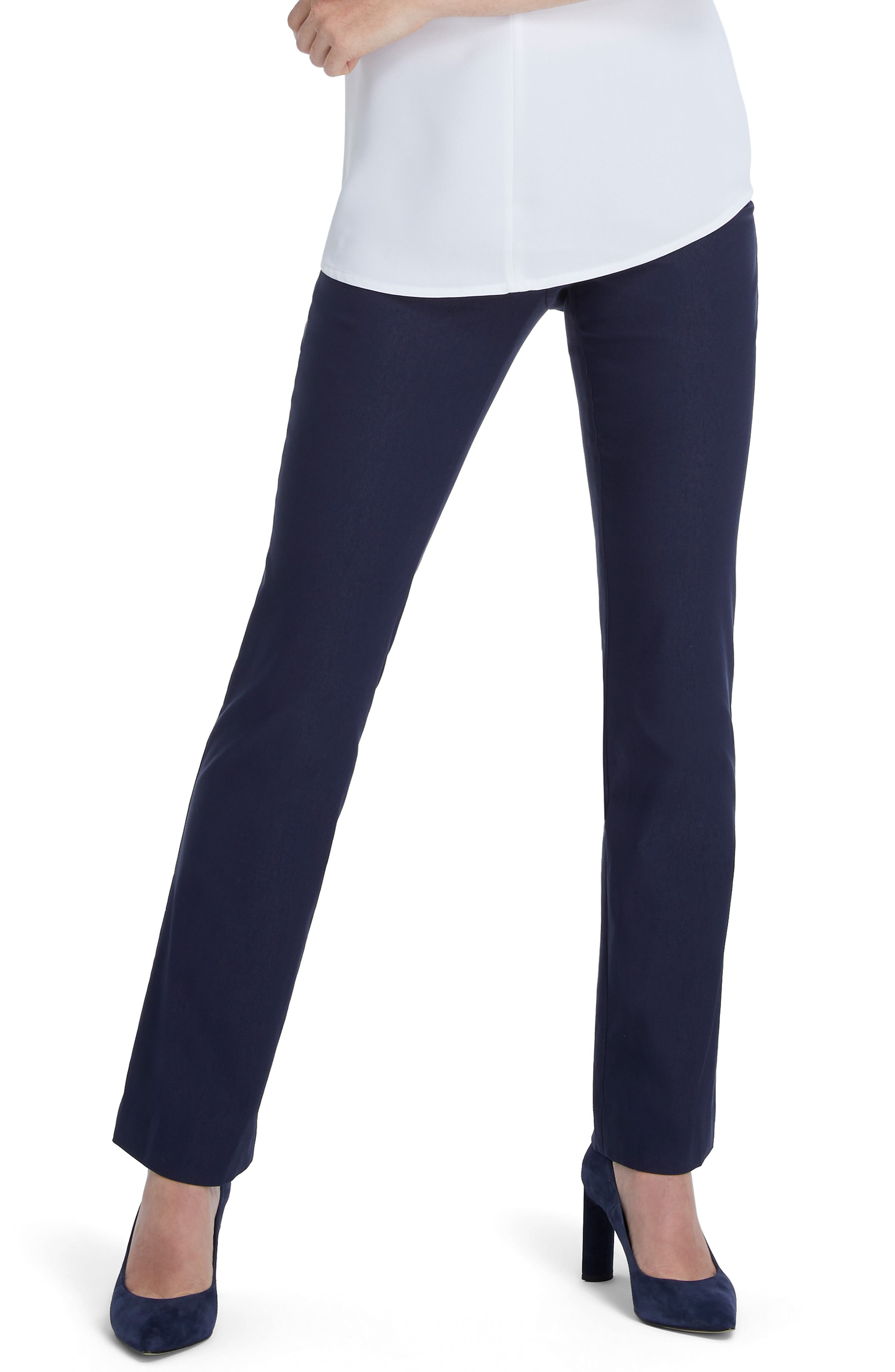 With a wide waistband, figure-friendly stretch and a cut that\\\'s relaxed in all the right places, these staple pants will feel great from coffee to cocktails. Style Name: Nic+Zoe Wonderstretch Bootcut Pants (Regular & Petite). Style Number: 5879325. Available in stores.
