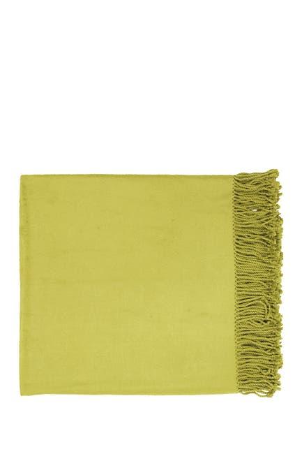 Image of SURYA HOME Fringe Trim Throw - Lime