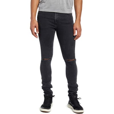 Monfrere Greyson Ripped Skinny Fit Jeans, Blue