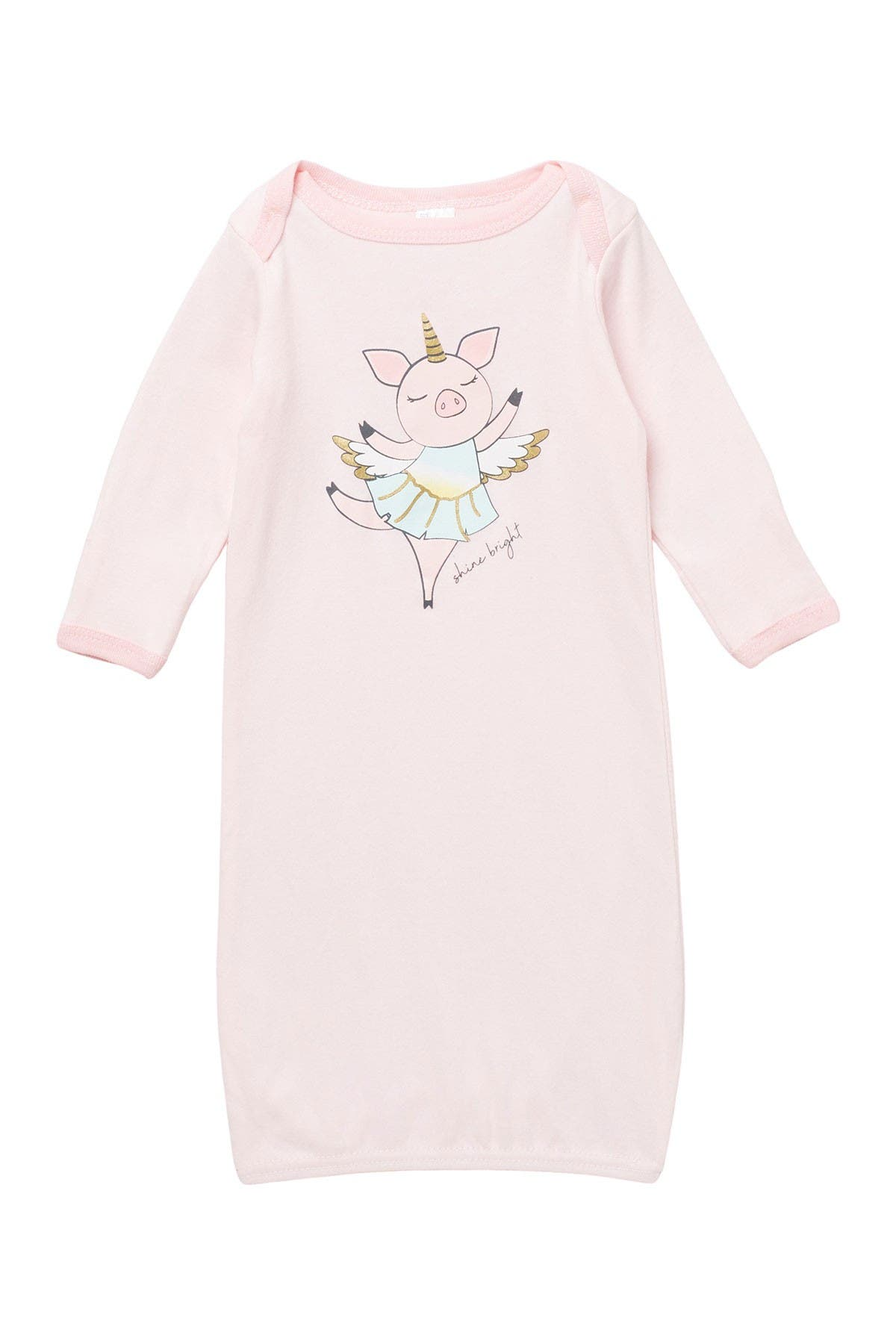 Image of Modern Baby Dancing Pig Long Sleeve Gown