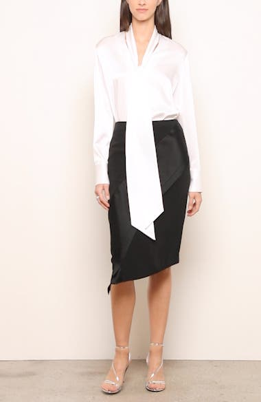Luxury Viscose Asymmetrical Skirt, video thumbnail