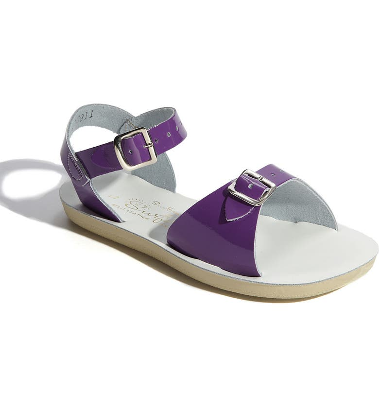 SALT WATER SANDALS BY HOY Surfer Water Friendly Sandal, Main, color, SHINY PURPLE