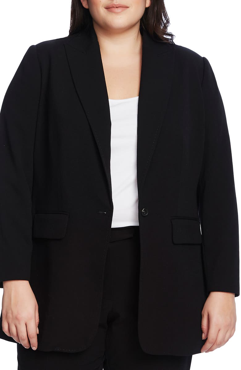 VINCE CAMUTO Suiting Notched Collar Blazer, Main, color, 001