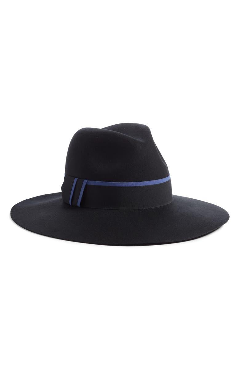 HALOGEN<SUP>®</SUP> Felt Panama Hat, Main, color, 001