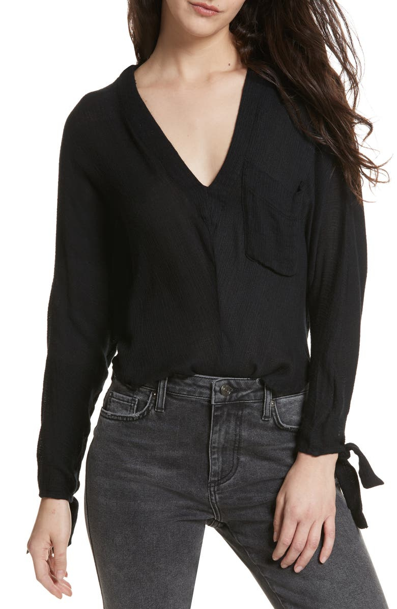 FREE PEOPLE Morning Dolman Sleeve Blouse, Main, color, 001