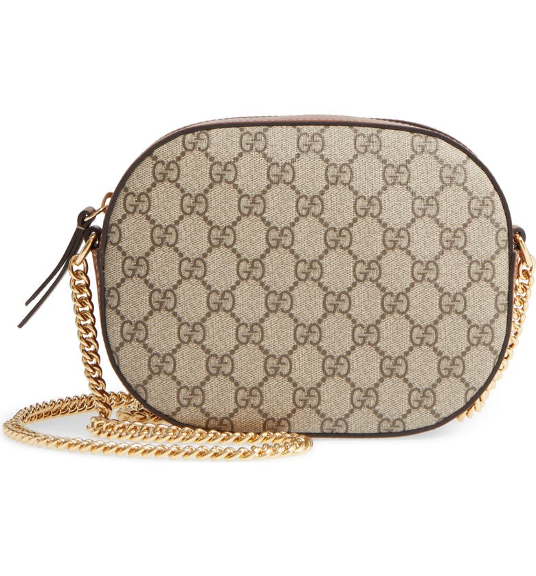 Gucci GG Linea Canvas & Leather Camera Bag | Nordstrom