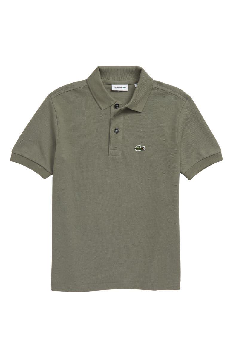 LACOSTE Classic Solid Piqué Polo, Main, color, SERGEANT