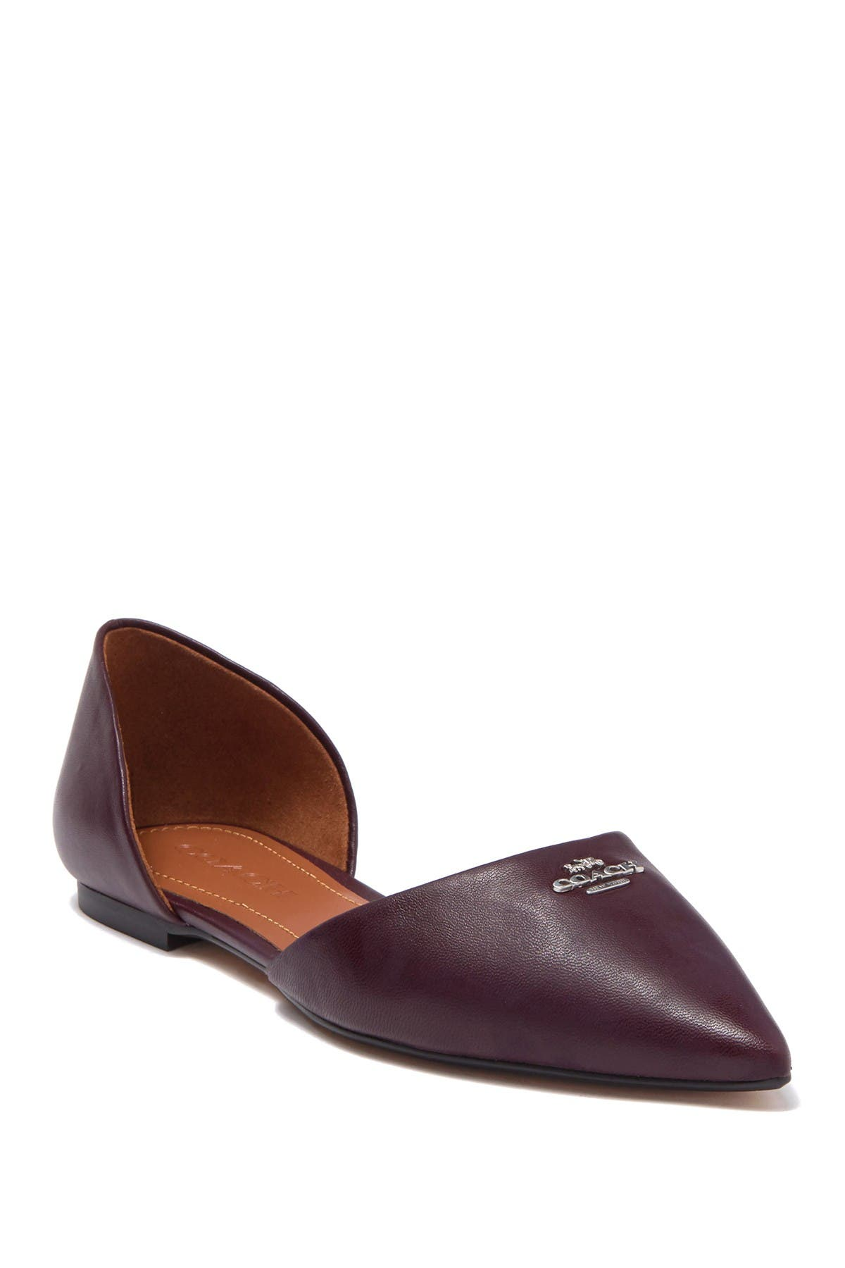 Coach   Pointed Toe Leather d'Orsay