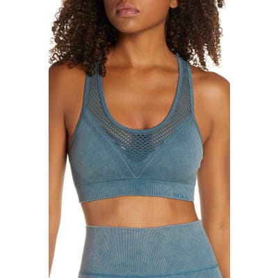Soul By Soulcycle Sweaty Mesh Sports Bra, Blue