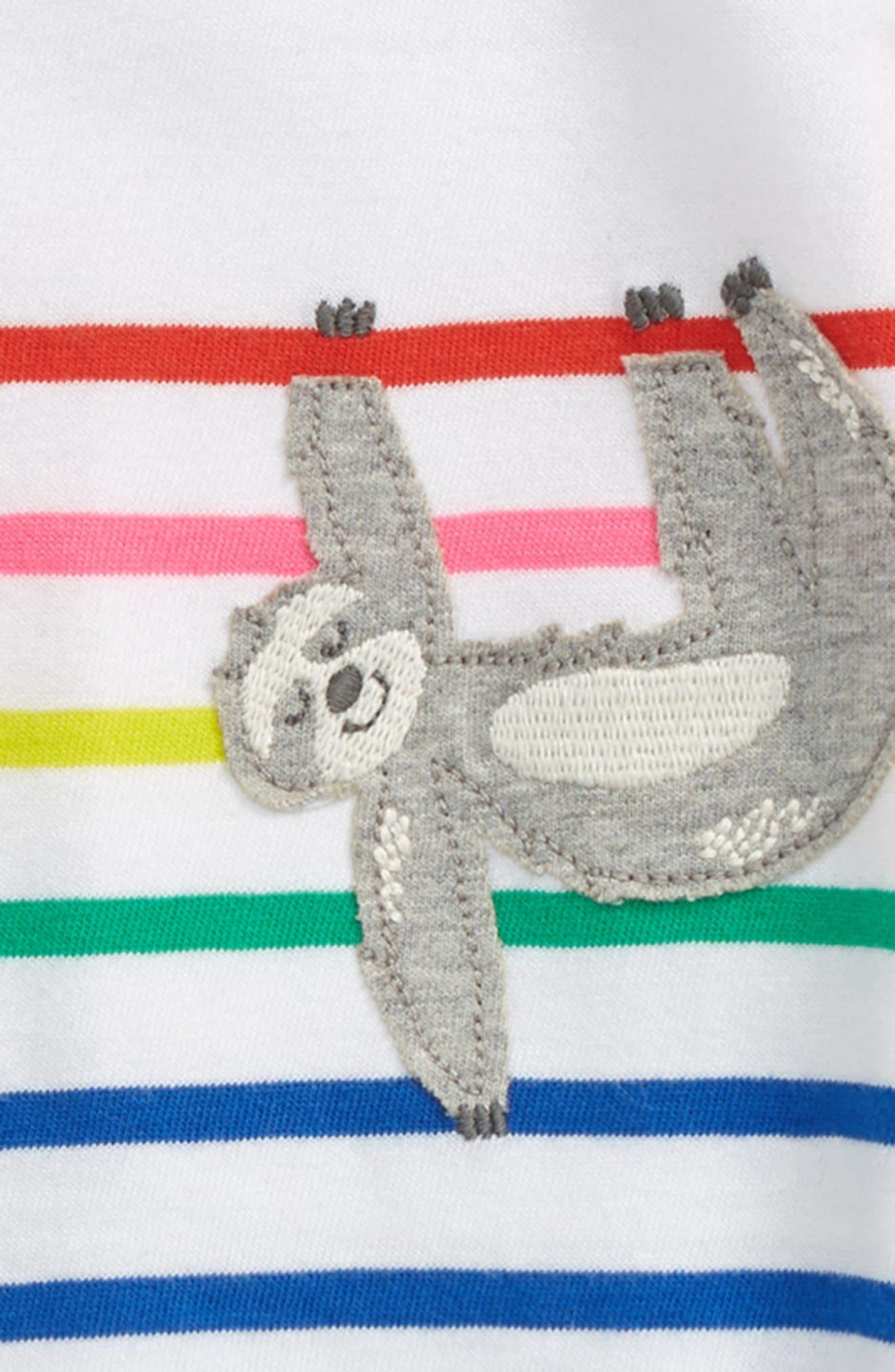 ,                             Breton Stripe Tee,                             Alternate thumbnail 2, color,                             BLU DUKE BLUE/ RAINBOW SLOTH